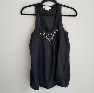 Michael Kors silk bejeweled blouse